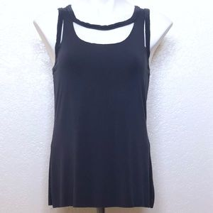 BAILEY/44 navy blue cut out top sz. Small